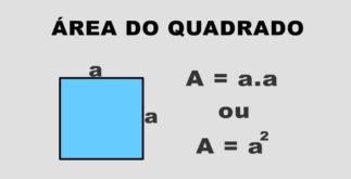 Área do retângulo e quadrado