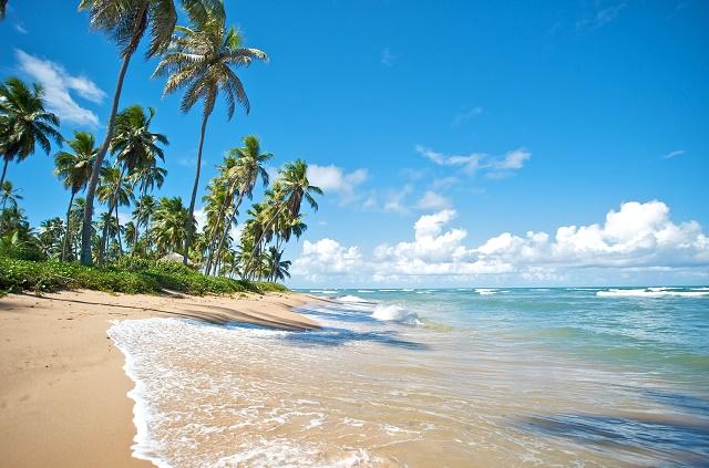 Vista de uma praia