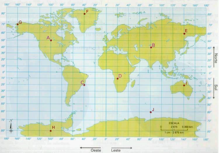 Coordenadas de localização