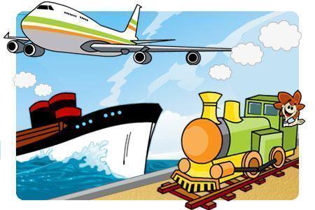 Meios de transporte - Aéreo, terrestre e marítimo
