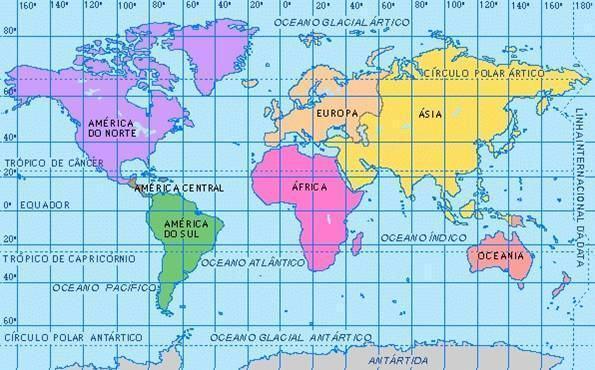 Os continentes da Terra