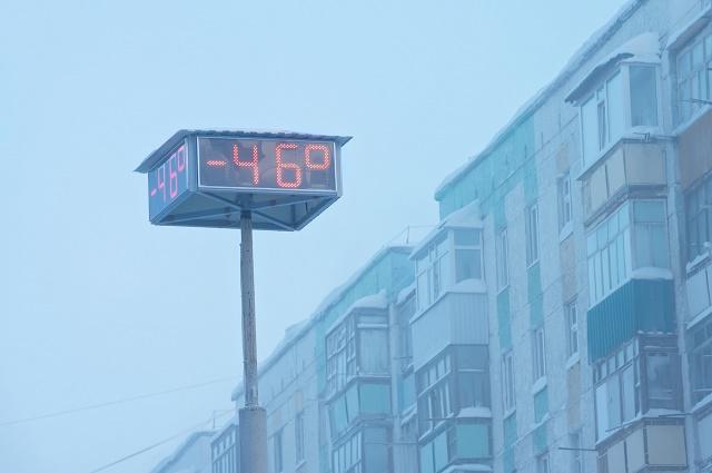 Termômetro indicando -46ºC