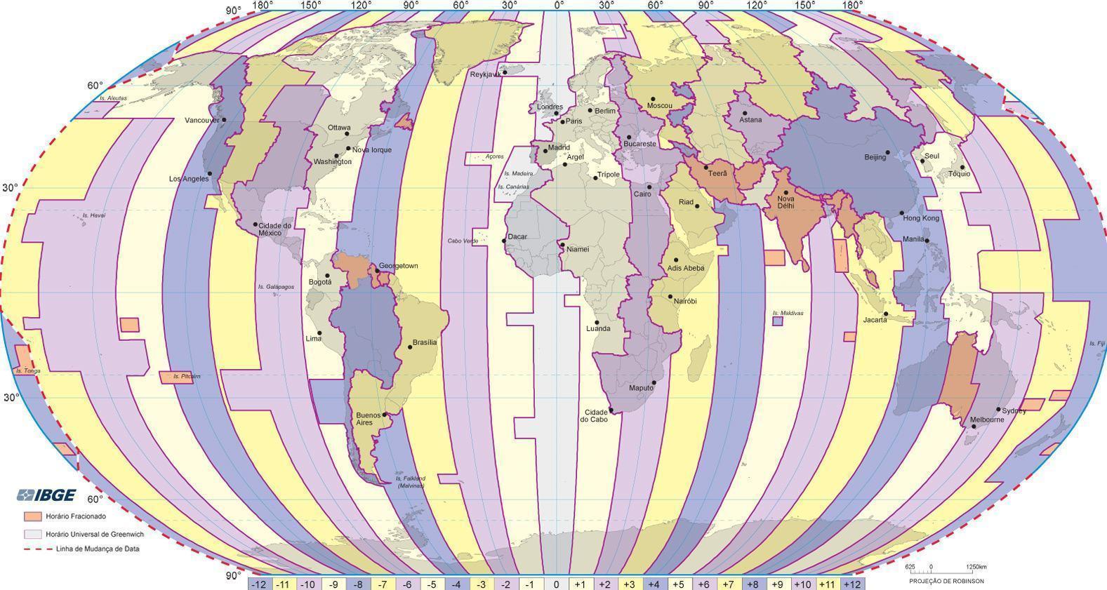 Fusos horários do mundo