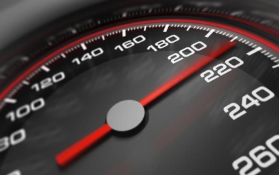 Velocidade de um veículo