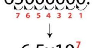 Como mudarde posição a vírgula na notação científica