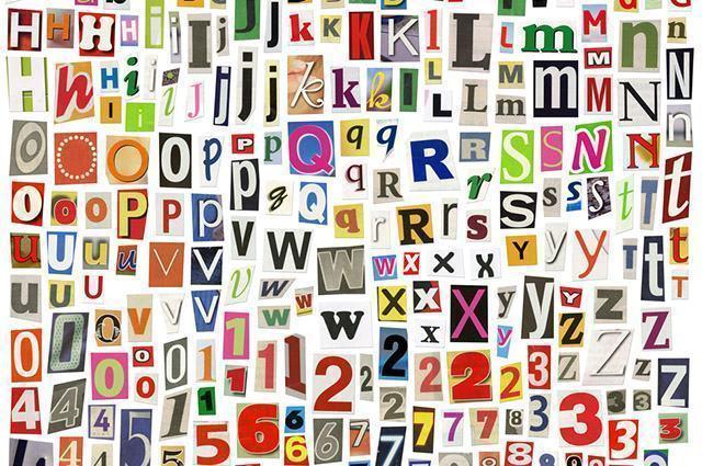 Imagem de letras