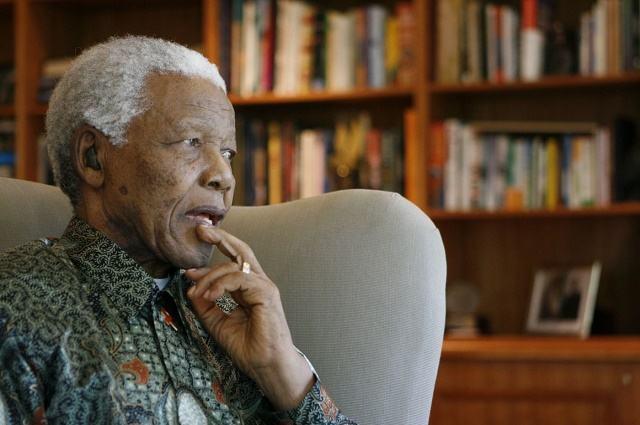 Imagem do ex-presidente africano Nelson Mandela um dos que militou contra o apartheid