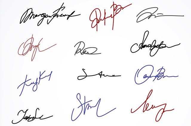 A assinatura pessoal pode ser usada em cartórios, contratos, documentos e procurações