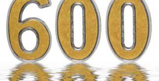 Como escrever por extenso numerais de 600 a 700