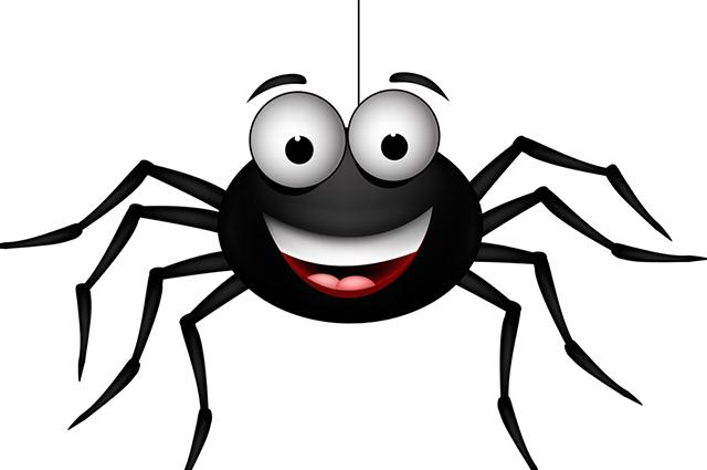 Desenho de aranha sorrindo
