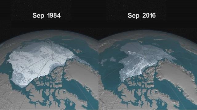 Derretimento de geleira no Ártico
