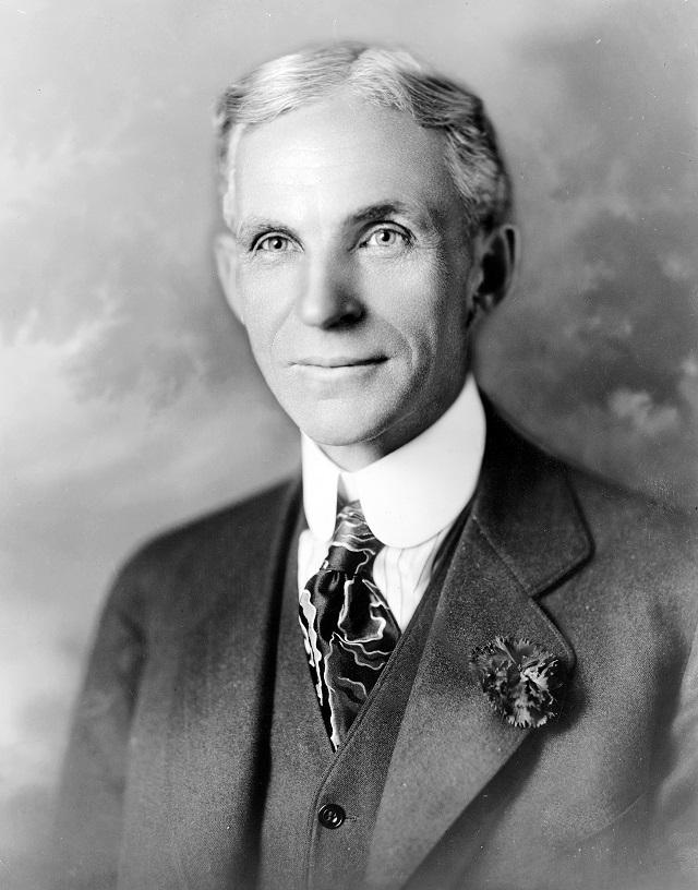 Foto de Henry Ford preta e branca