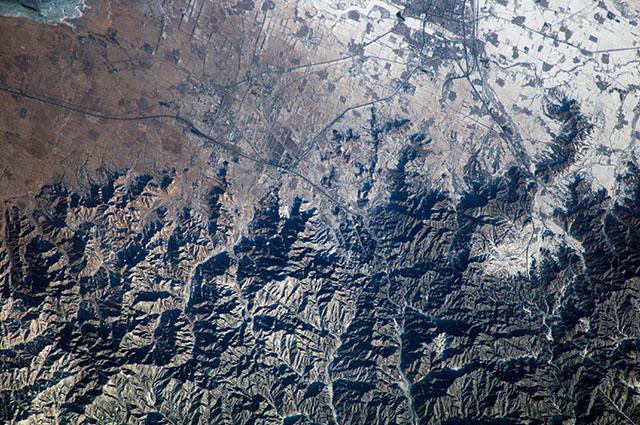 Imagem aérea da Muralha da China