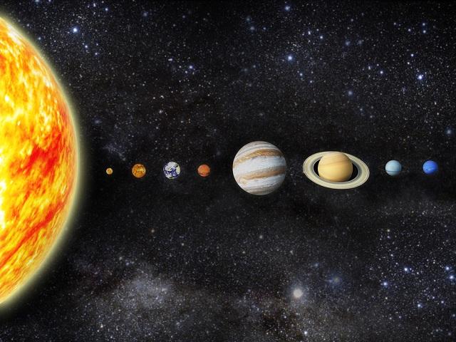 Planetas e Sol