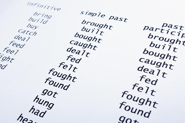 Lista de verbos em inglês