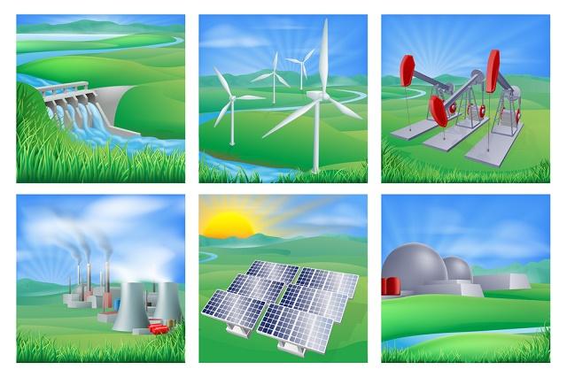 Representações dos tipos de energia