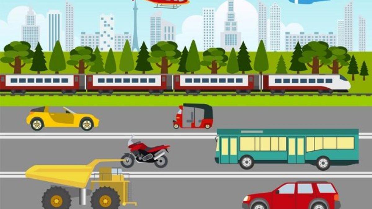 Means Of Transportation Meios De Transporte Em Ingles Estudo Kids