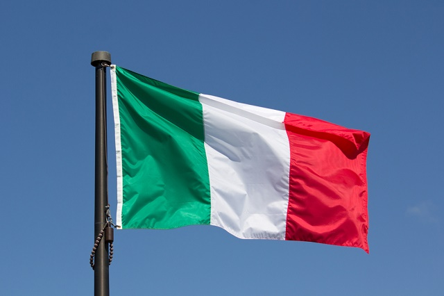Bandeira da Itália trêmula