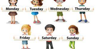 Days of the week: Dias da semana em inglês