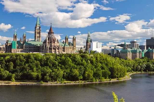 Prédio do parlamento no Canadá