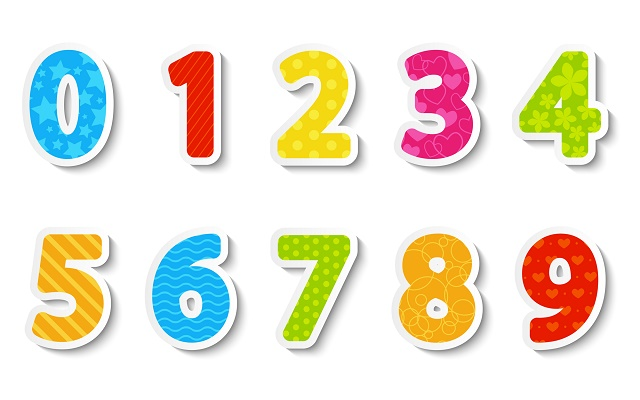 Números coloridos