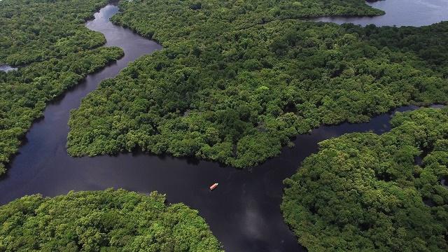 Imagem do rio Amazonas aérea